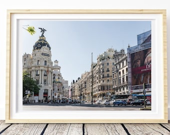 Madrid Metropolis - Gran Via Sunset. Landscapes of Spain. Printable image for download. From Spain with Love