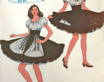 Gorgeous Square Dance Dress Pattern---Authentic Pattern 325---Sizes 6-8-10 Bust 30 1/2 thru 32 1/2  UNCUT