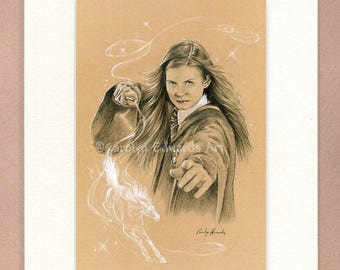 HARRY POTTER ~ 'Ginny Weasley'. 4 x 6 inch Mounted Print