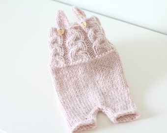Newborn props - Newborn romper- Baby girl romper - Newborn Outfit - Photo Prop Outfit - Photo prop romper - Newborn girl - Props -Light pink