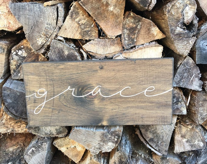 Hand Painted Wooden Sign Grace