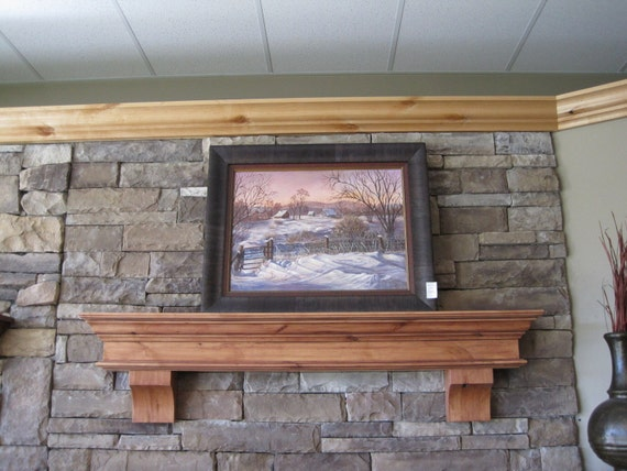 fireplace mantel corbels. Fireplace Mantel Floating Wood Custom Sized  Stained Built By Iguana Art And Design Hand Signed