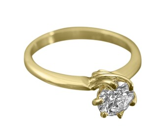 Solitaire ring, Engagement ring, Solitaire diamond ring, Solitaire engagement ring, Diamond engagement ring, Diamond promise ring, 18K