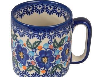 BCV Polish Pottery Hand Painted Ceramic Mug 400 ml, Large 055-U-097