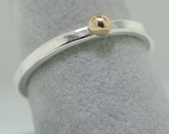 Gold Ball Trinket Ring- Stackable