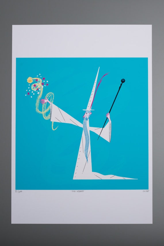 The Wizard - limited edition - Magic and Wizardry - A3 posters and prints - wall art print -  by Oliver Lake - iOTA iLLUSTRATiON