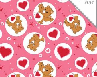 Care Bears Fabric Tenderheart Bear Fabric KNIT Fabric From Camelot