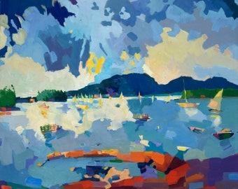 """NEW. Mt Desert and the Cranberry Islands, 12 x 15"""" a limited edition of ten prints, signed and numbered."""