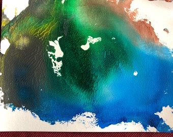 Tropical Acrylic Abstract Painting