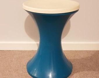Blue and white Retro modular camping stool.