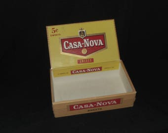 Vintage Casa Nova Sweets Cigar Box