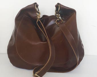 UMA Leather Bag - Leather Hobo Bag - Slouchy Leather Crossbody Bag - Leather Bag - Boho Bag - Womens Purse -Eco-Friendly - More Colors