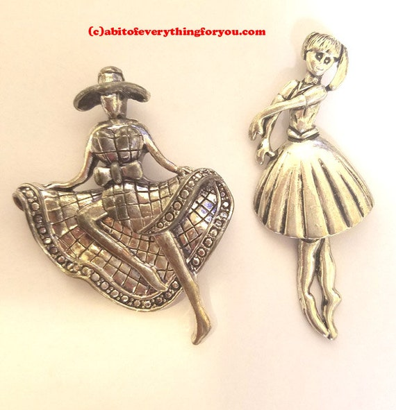 huge pewter ballerina pendant metal dancing lady charm 50 mm x 70 mm jewelry making supplies