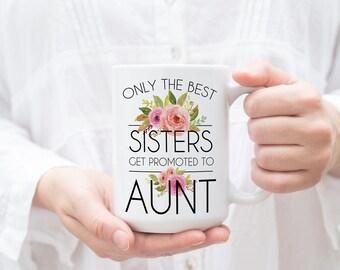 Baby Announcement Aunt Pregnancy Announcement Aunt Gift Aunt Mug for Aunt Pregnancy Reveal Gift Personalized Pregnancy Announcement Custom