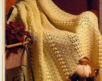 CROCHET PATTERN - Popcorn and Shells Afghan/Blanket/Lapghan/Baby download