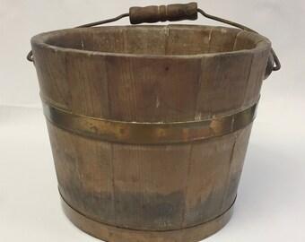 Vintage Berry Bucket/Primitive Berry Bucket/Primitive Berry Pail/Vintage Berry Pail/Vintage Wood Bucket/Primitive Wood Bucket/Brenda Moore