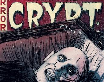 Mr. Barlow, Salem's Lot Tales From The Crypt Horror Comic Mash Up Wall Art Print