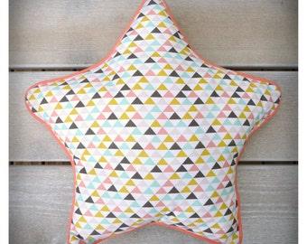 Cushion / star Triangolini Pajama bag