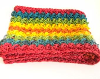 Colorful Fun Scarf - Handmade -Crochet