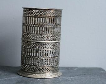 Vintage BERNARD RICE'S SONS Apollo Silver Plate Bottle Holder 6160 Art Deco