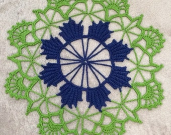 Crocheted doily/entertaining ideas/light and airy doily