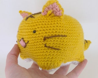 crochet cat / crochet toy / anime plushie / poyopoyo