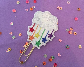 Rainbow Stars Cloud Paperclip  | Planner Accessory | Kikki K | Happy Planner | Filofax | Websters Pages | Planner Supplies