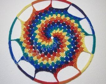 Rainbow Granny Spiral