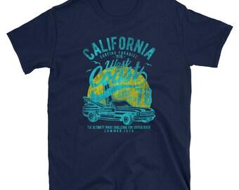 California West Coast Retro Vintage Car Inspired Men's T-Shirt