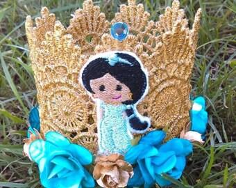 Princess Crown, Jasmine Birthday Crown, Crown, Smashcake