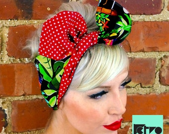 Playful Retro Flower Rockabilly Pin up Headband