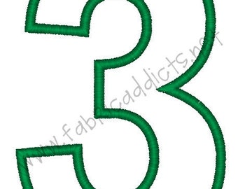 Applique #3 fits 5x7 Hoop for Embroidery Machine - Automatic Download Multiple Formats NOTE: #3 is 6inches tall