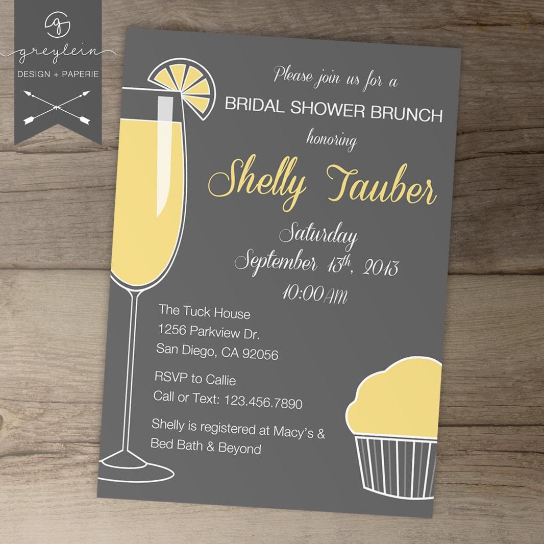 Bridal Shower Brunch Invitations Bachelorette Invites On Bridal