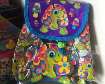 Vintage Lisa Frank Peekaboo Mini Clear Backpack