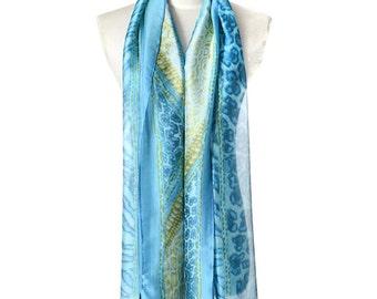 Womens Scarf, Leopard Print Scarf, Blue Scarf, Floral Print Scarf,  Fashion Scarf, Chiffon Scarf, Voile Scarf, Cotton Scarf