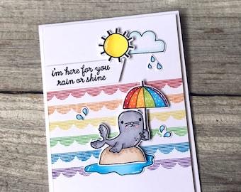 Rain or Shine - Handmade card