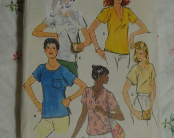 Butterick 6151 Misses Top Sewing Pattern - UNCUT - Size 6 / 8 or Size 14
