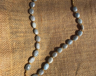 Labradorite Pendant Necklace with Stunning Silverite Beads