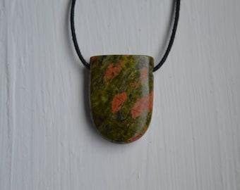 Drilled Bloodstone Pendant