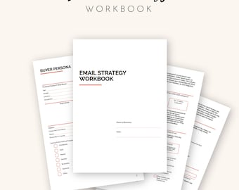 Email Marketing Strategy, Email Marketing Planner, Email Campaign Planner for Small Business Owners | Printable - A4