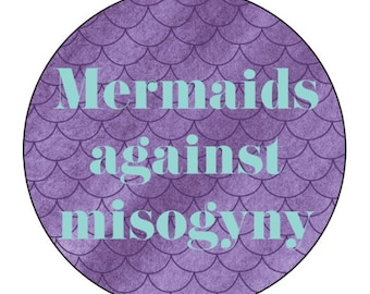 Large Mermaids Against Misogyny Sticker