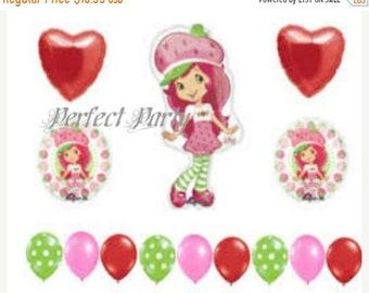 ON SALE 14 pc Strawberry Shortcake Birthday Balloon Bouquet