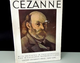 Coffee Table Book Cezanne Art Book Vintage - Gift Artist Art Lover - 100  Photogravure & 18 Color Plates Prints