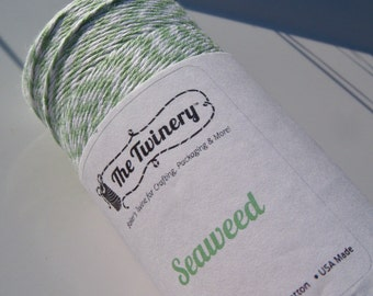 Bakers Twine - The Twinery - 100% Cotton  - One Color - Your Choice - Seaweed Shown - Choose Your Amount