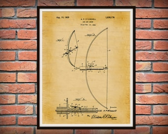 Patent 1925 Bow and Arrow - Art Print - Poster - Wall Art - Archery - Hunting Camp - Man Cave - Native American Weapon - Deer Hunter Art