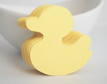 Duck die cuts, 50 Baby Yellow Ducks (2.2 inches) Textured Cardstock  die cut , Duck Baby Shower,  A380