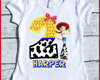 Custom Personalized Jessie Toy Story Birthday tee shirt