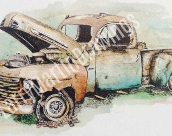 Ford Rusted Truck Print