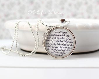 Chain Angel, Angel necklace, chain with Angelic saying, Angel poem, gift for You