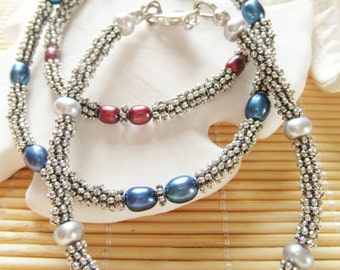 "Price reduction:  7"" Long Rice Pearl bracelet"